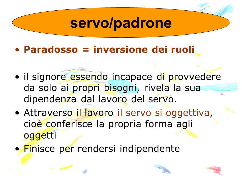 servo/padrone Paradosso = inversione dei ruoli