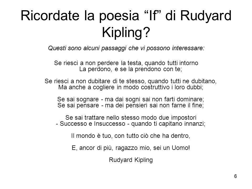 Ricordate la poesia If di Rudyard Kipling