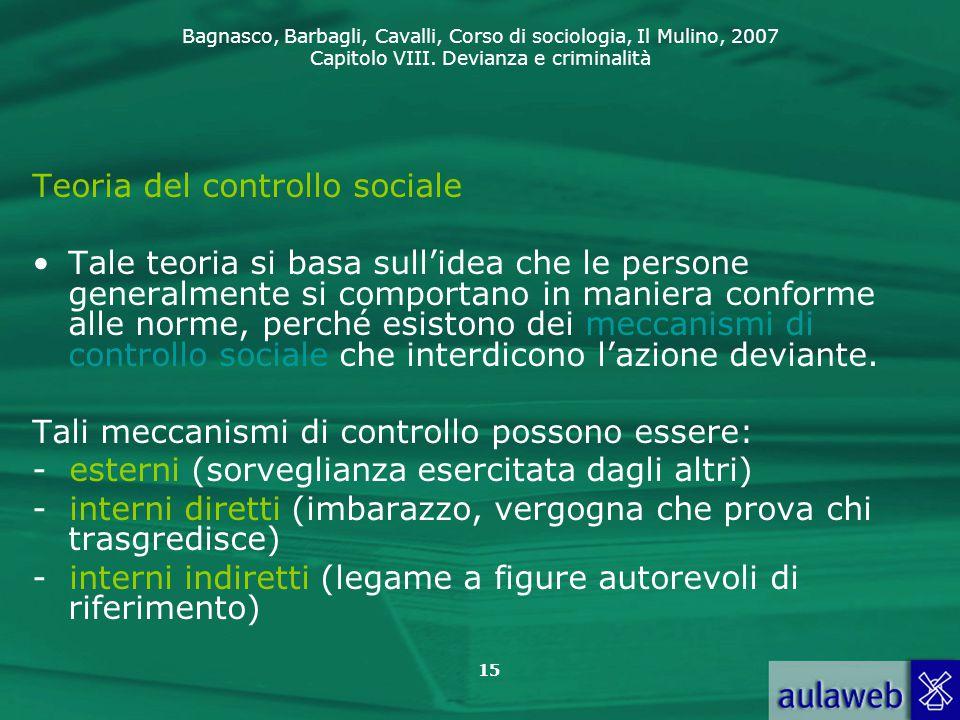 Teoria del controllo sociale