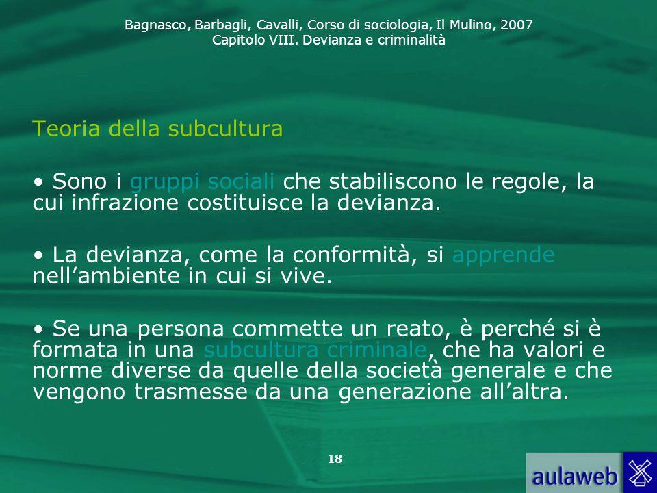 Teoria della subcultura