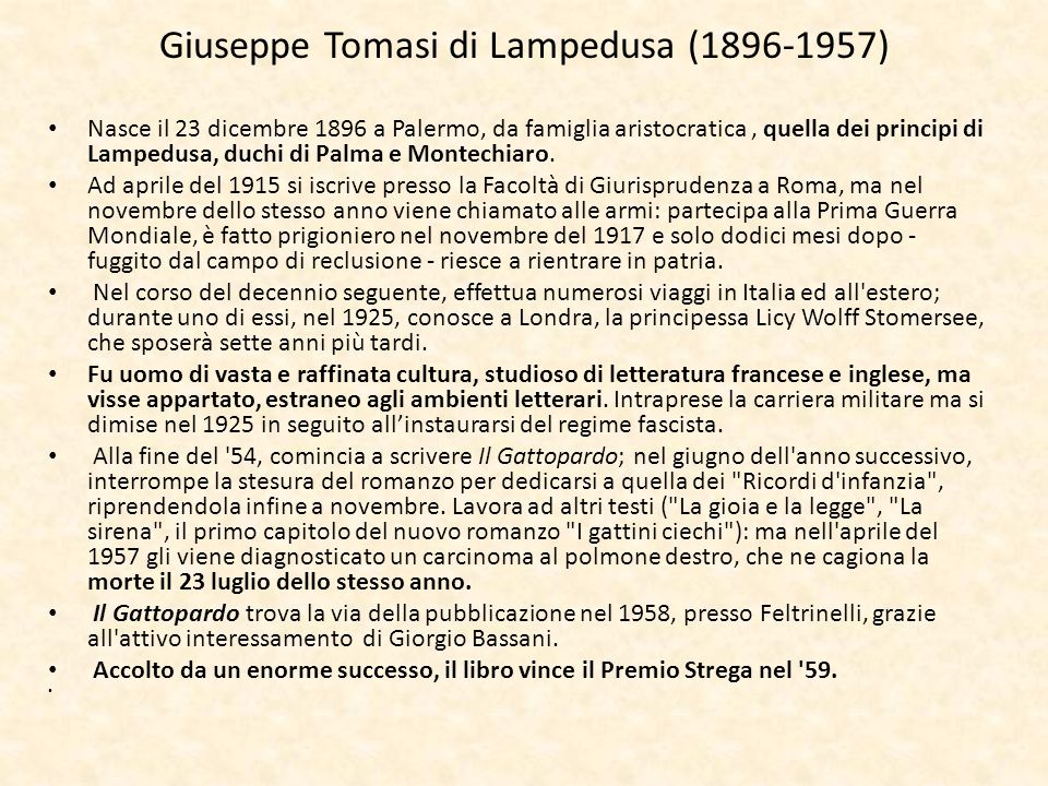 Giuseppe Tomasi di Lampedusa (1896-1957)