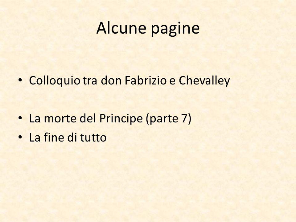 Alcune pagine Colloquio tra don Fabrizio e Chevalley