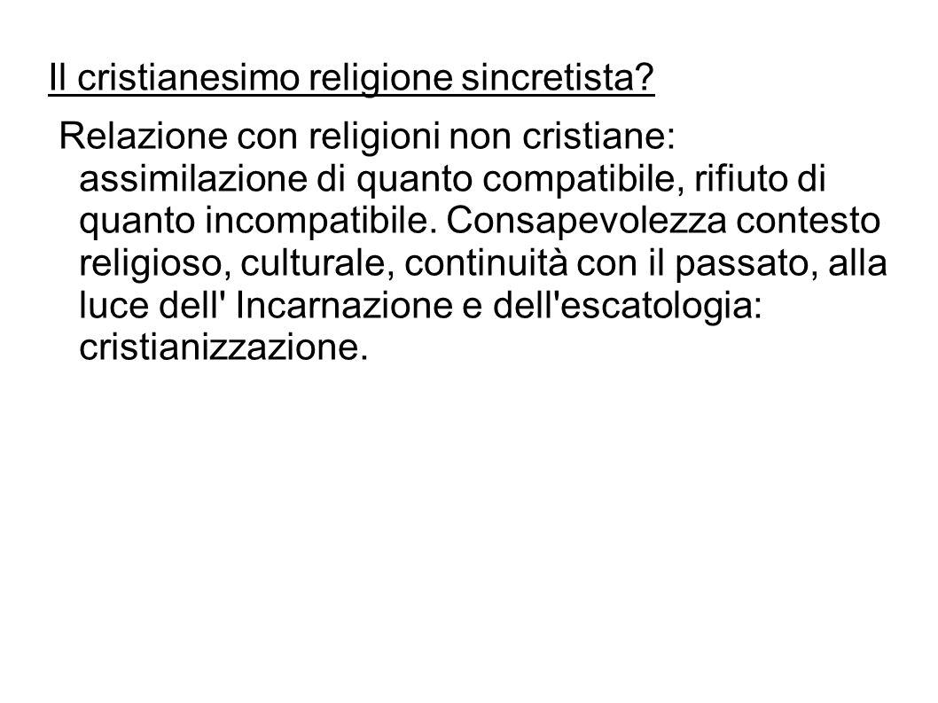 Il cristianesimo religione sincretista