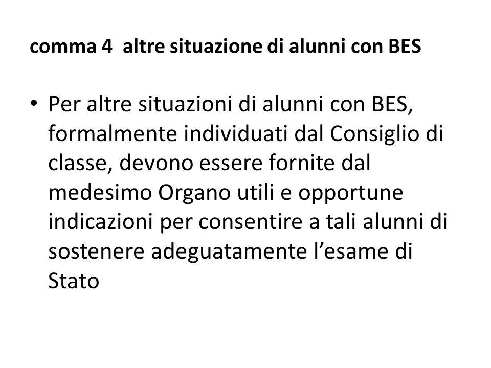 comma 4 altre situazione di alunni con BES