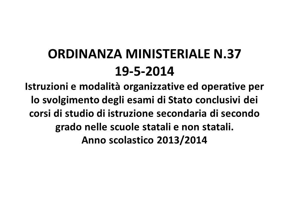 ORDINANZA MINISTERIALE N