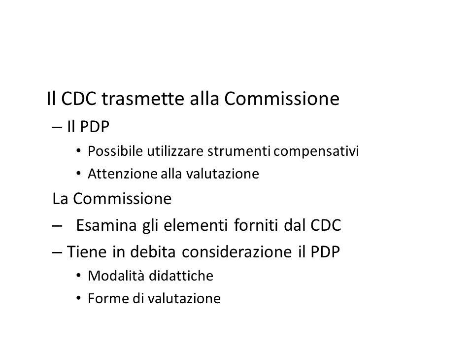Il CDC trasmette alla Commissione