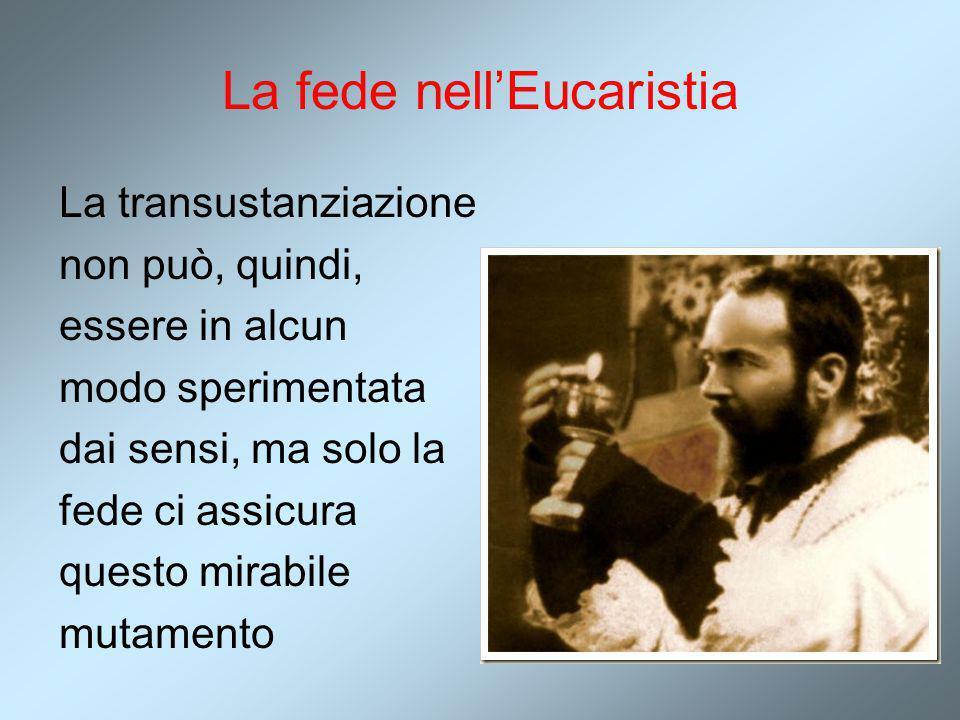 La fede nell'Eucaristia