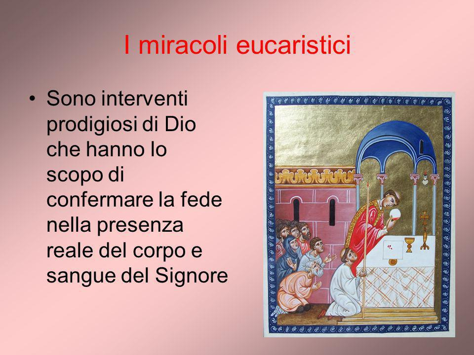 I miracoli eucaristici