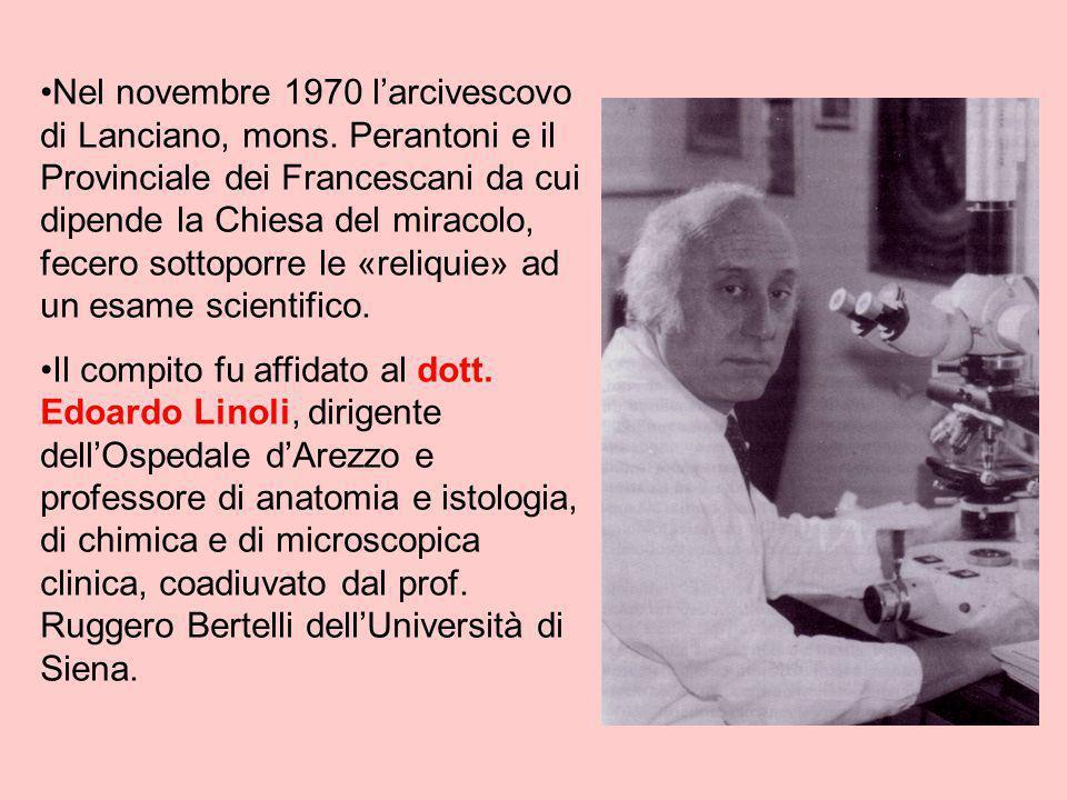 Nel novembre 1970 l'arcivescovo di Lanciano, mons