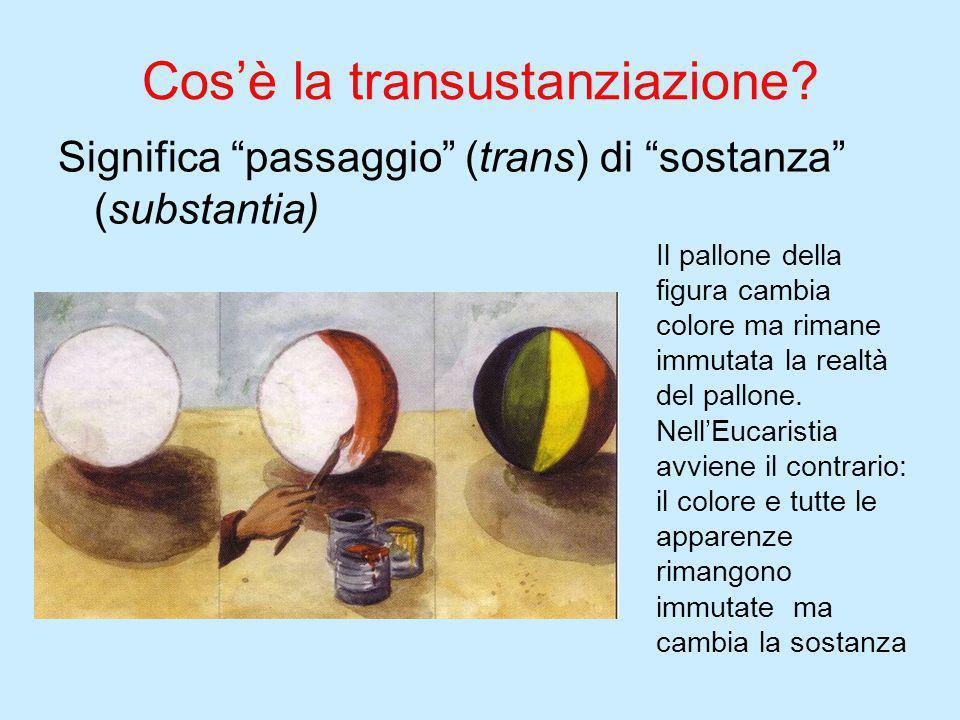 Cos'è la transustanziazione