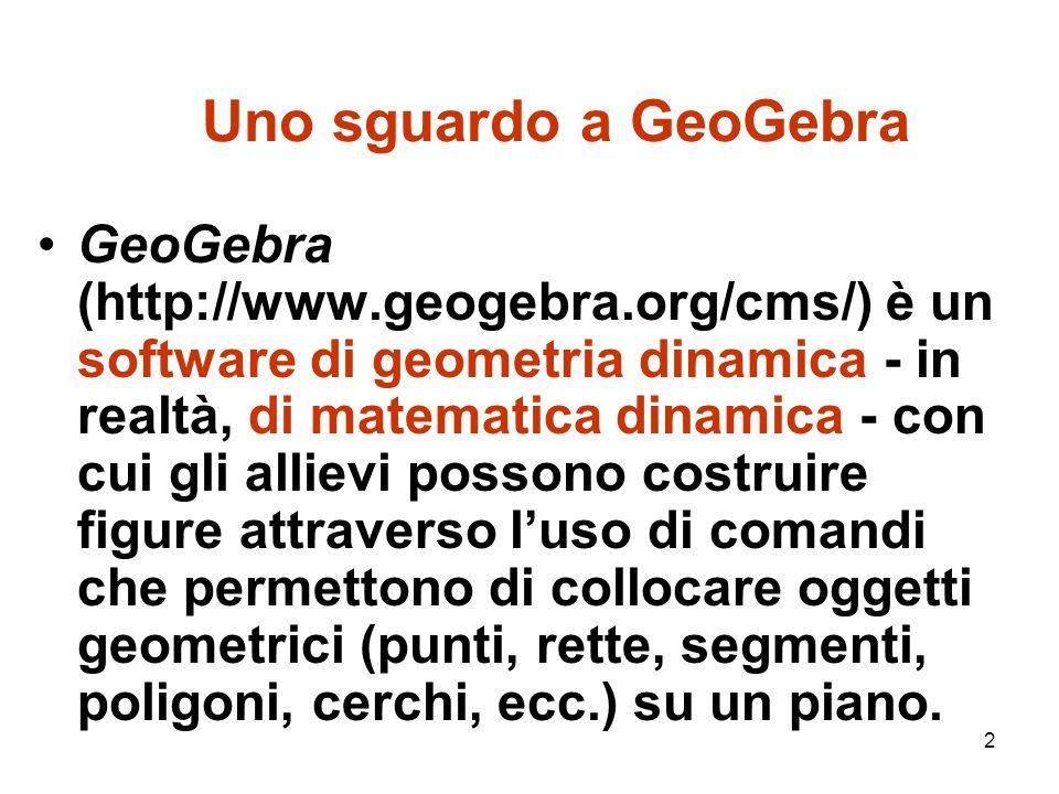 Uno sguardo a GeoGebra