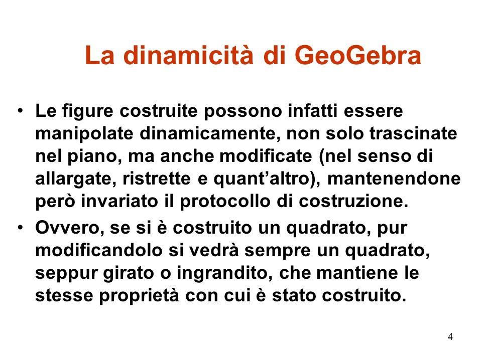 La dinamicità di GeoGebra