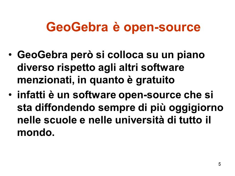 GeoGebra è open-source