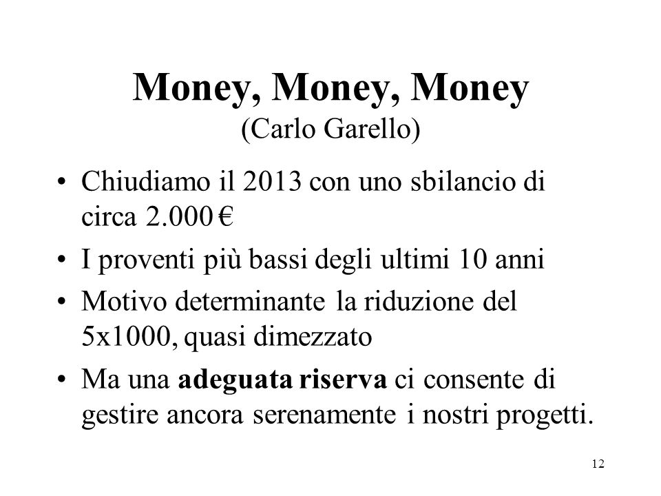 Money, Money, Money (Carlo Garello)