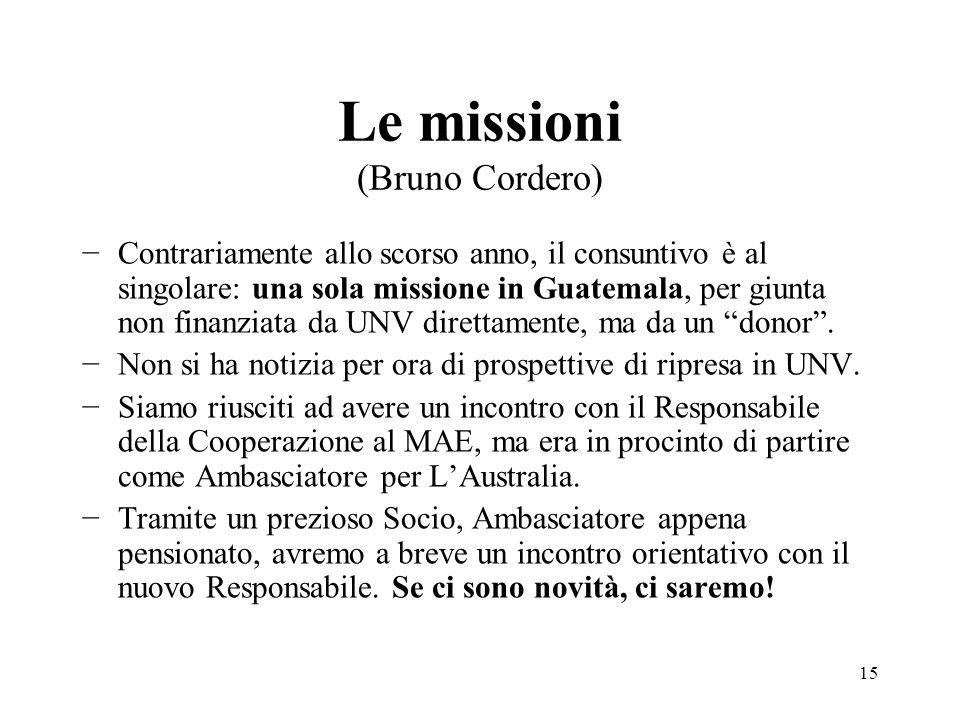 Le missioni (Bruno Cordero)