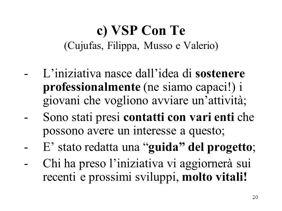 c) VSP Con Te (Cujufas, Filippa, Musso e Valerio)