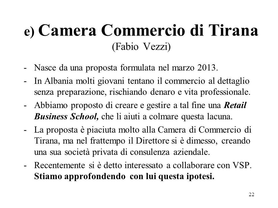 e) Camera Commercio di Tirana (Fabio Vezzi)