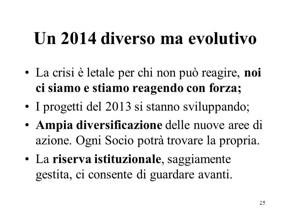 Un 2014 diverso ma evolutivo