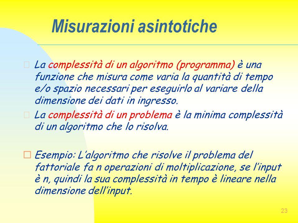 Misurazioni asintotiche