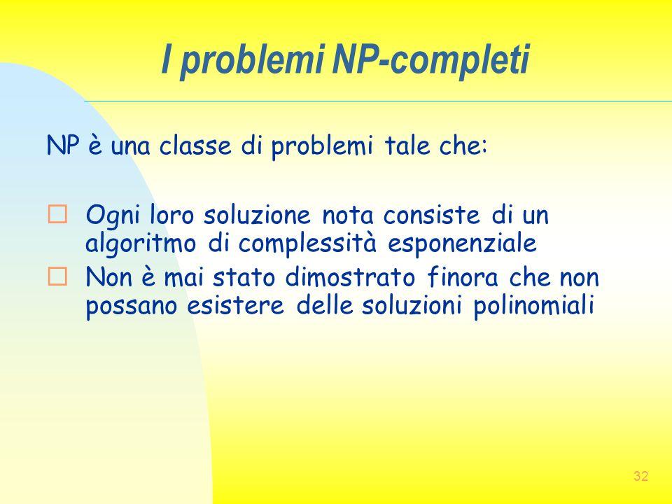 I problemi NP-completi