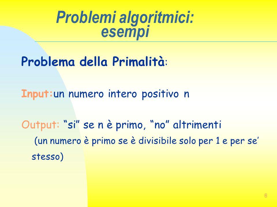 Problemi algoritmici: esempi