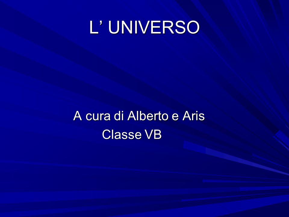 L' UNIVERSO A cura di Alberto e Aris Classe VB