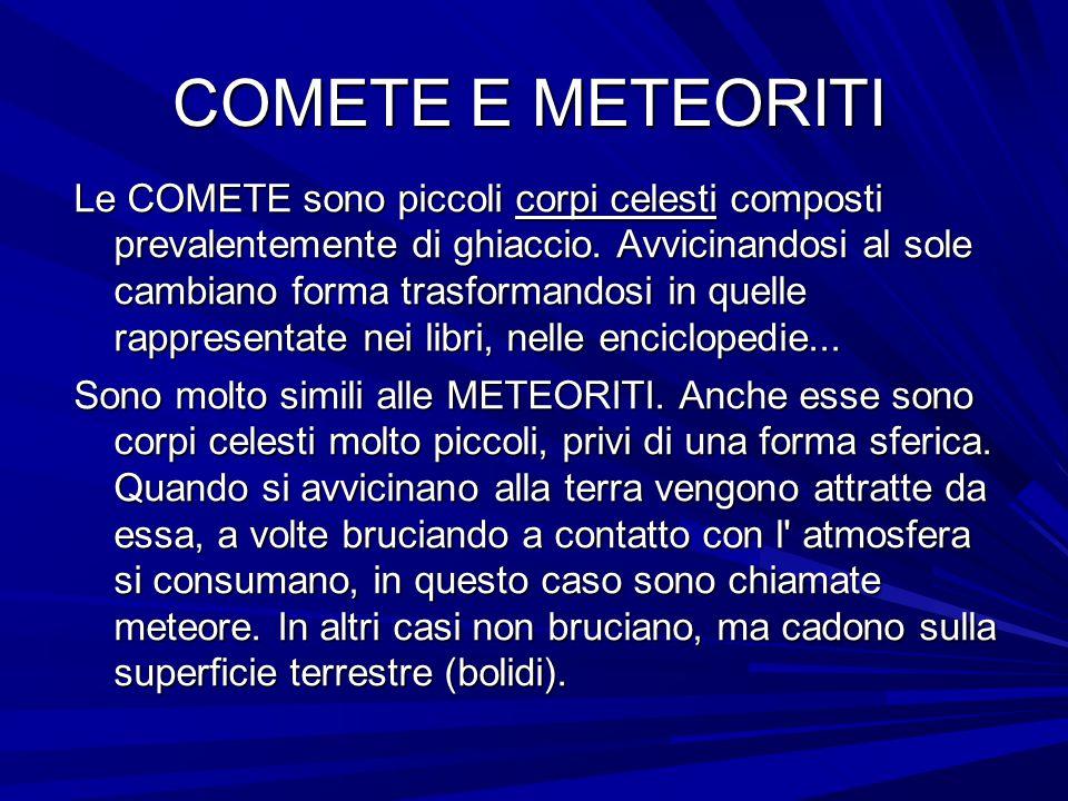 COMETE E METEORITI