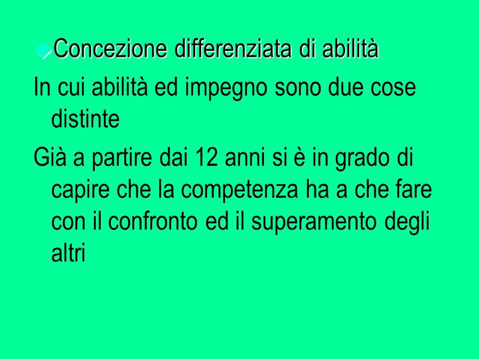 Concezione differenziata di abilità