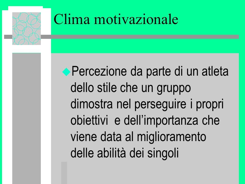 Clima motivazionale