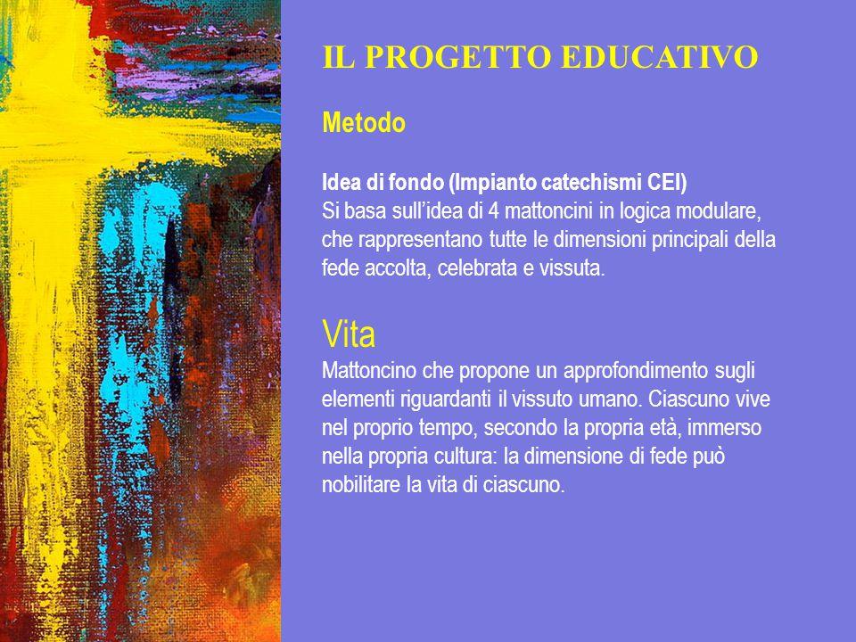 Vita IL PROGETTO EDUCATIVO Metodo