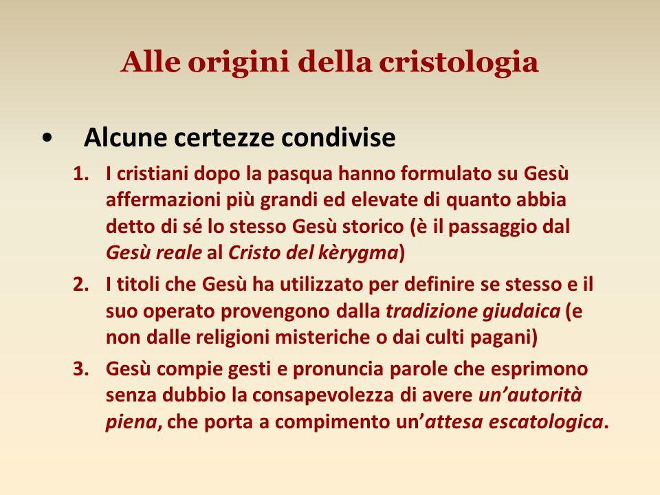 Alle origini della cristologia