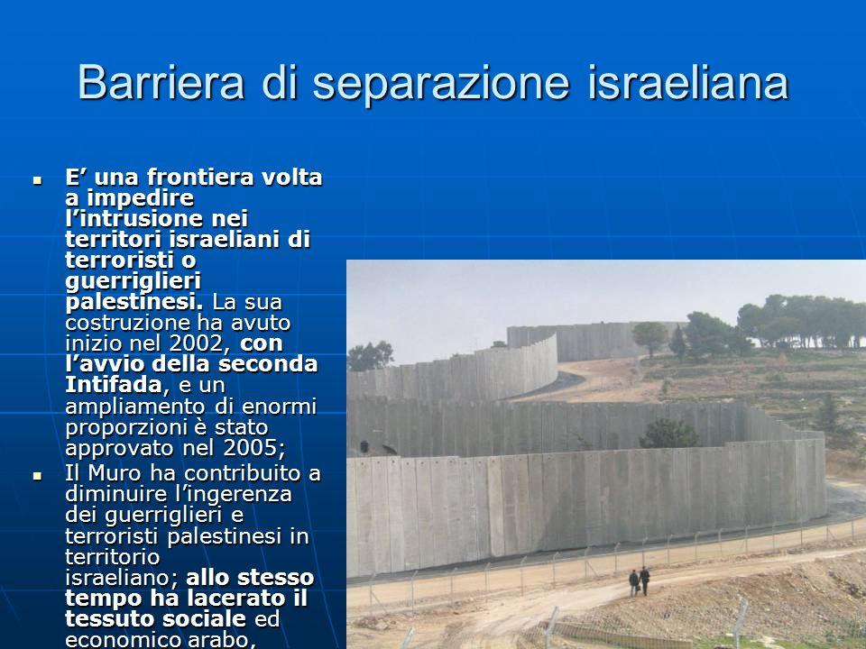 Barriera di separazione israeliana
