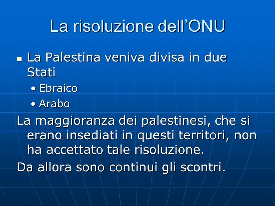 La risoluzione dell'ONU