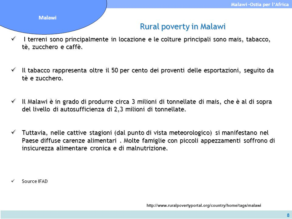 Rural poverty in Malawi