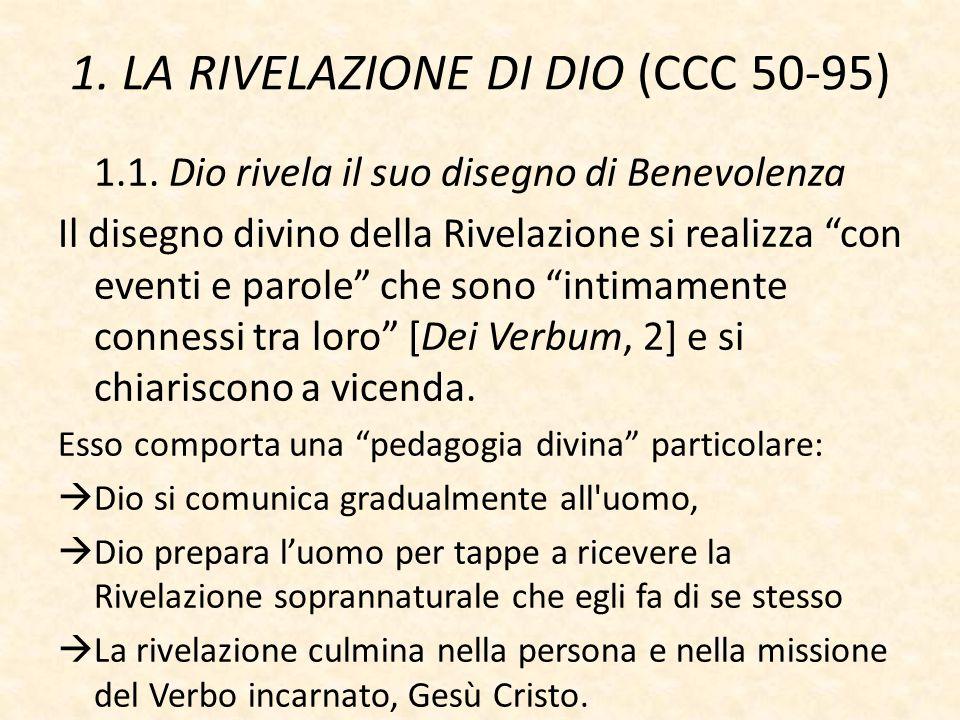 1. LA RIVELAZIONE DI DIO (CCC 50-95)