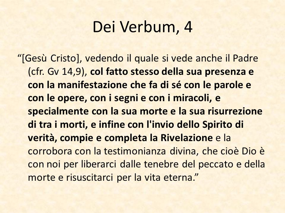 Dei Verbum, 4
