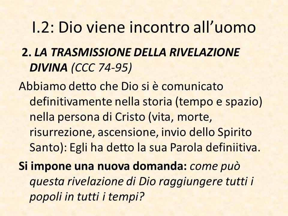 I.2: Dio viene incontro all'uomo