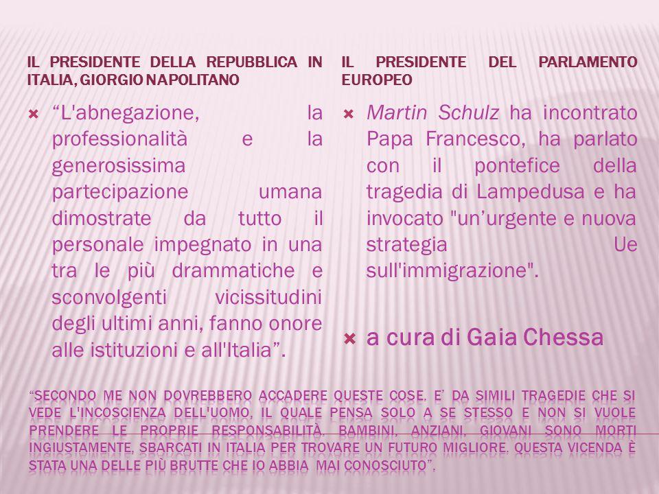 Il presidente della Repubblica in italia, giorgio napolitano