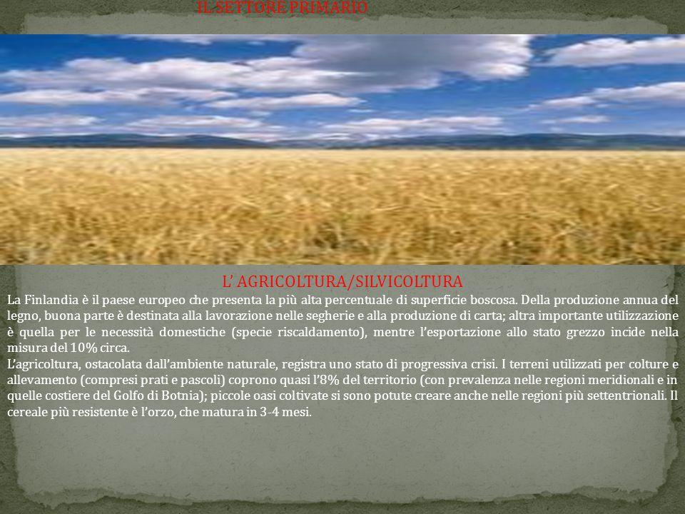 L' AGRICOLTURA/SILVICOLTURA