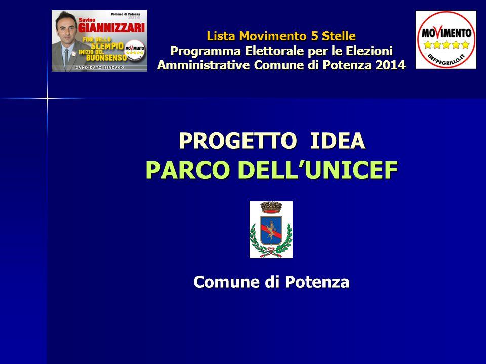 PROGETTO IDEA PARCO DELL'UNICEF Comune di Potenza