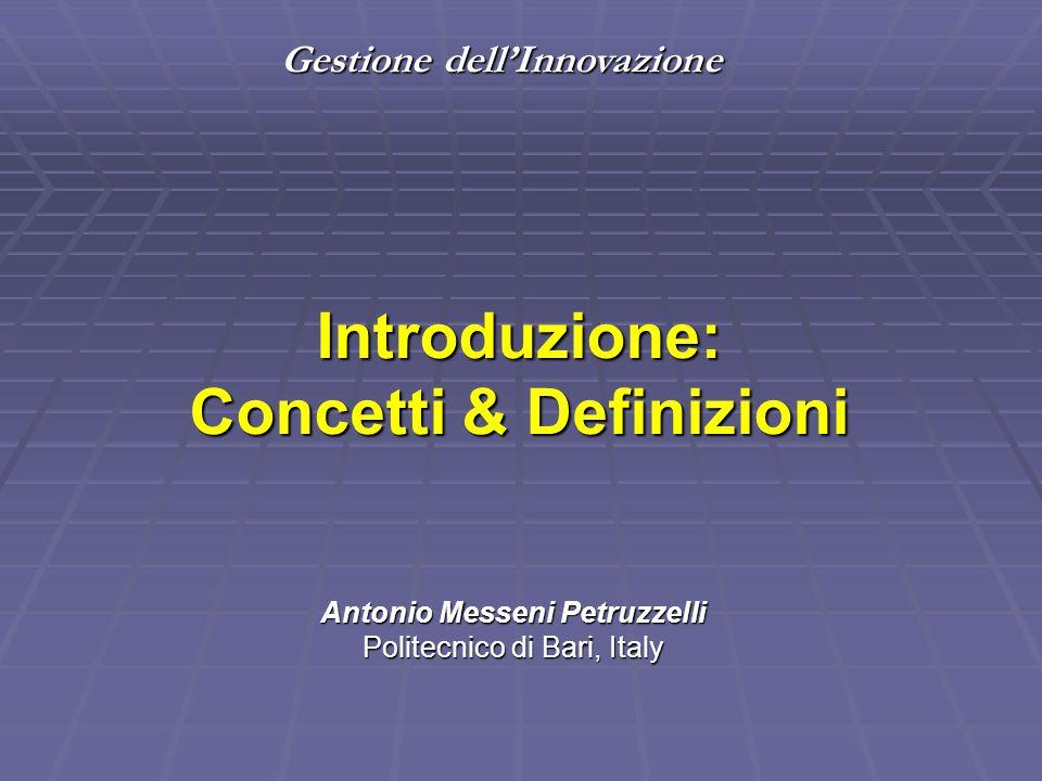 Introduzione: Concetti & Definizioni