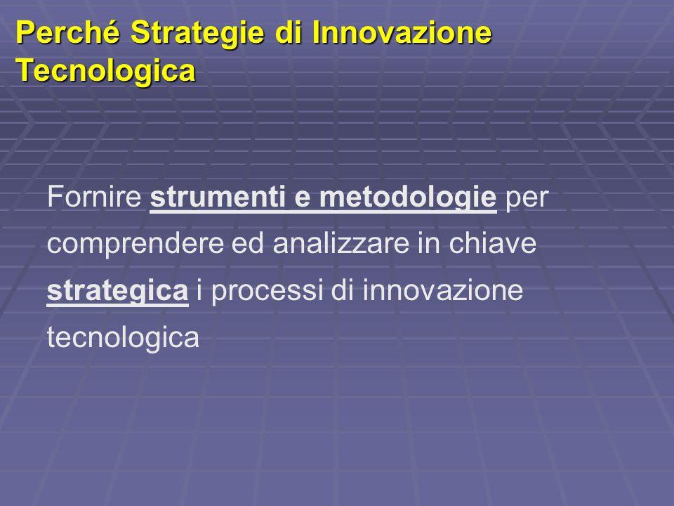 Perché Strategie di Innovazione Tecnologica