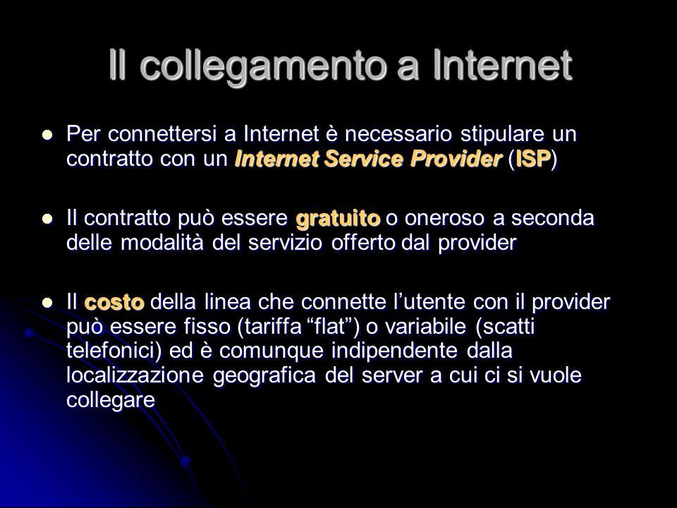 Il collegamento a Internet