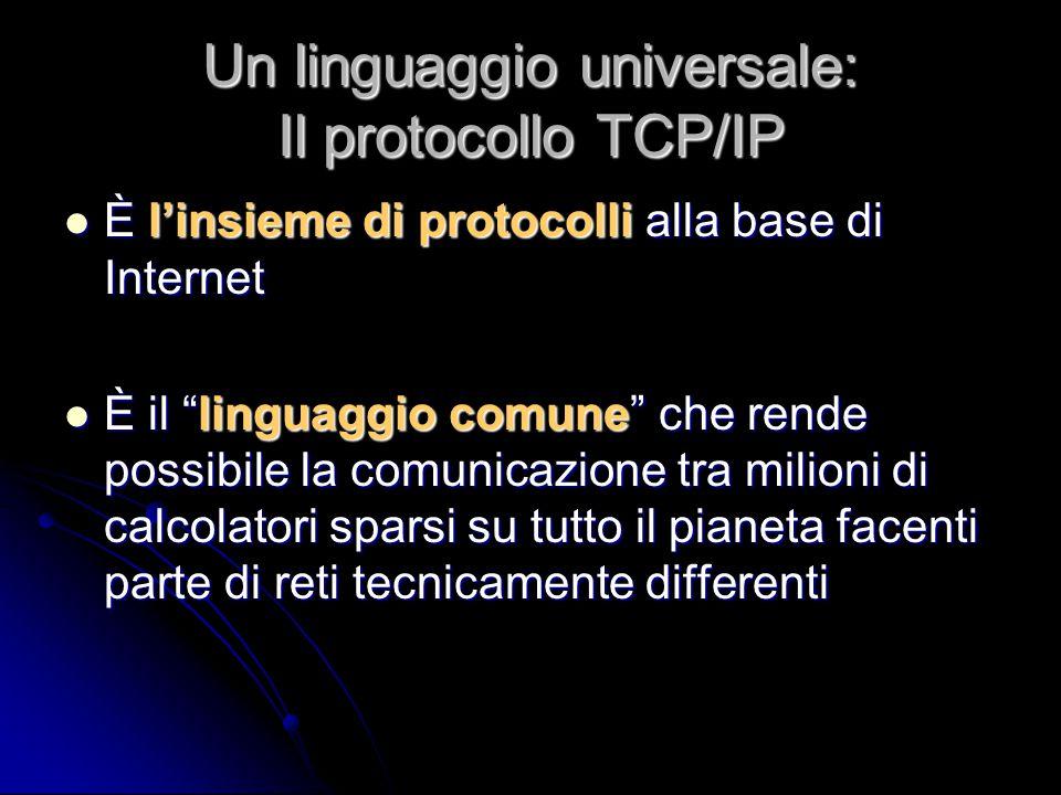 Un linguaggio universale: Il protocollo TCP/IP
