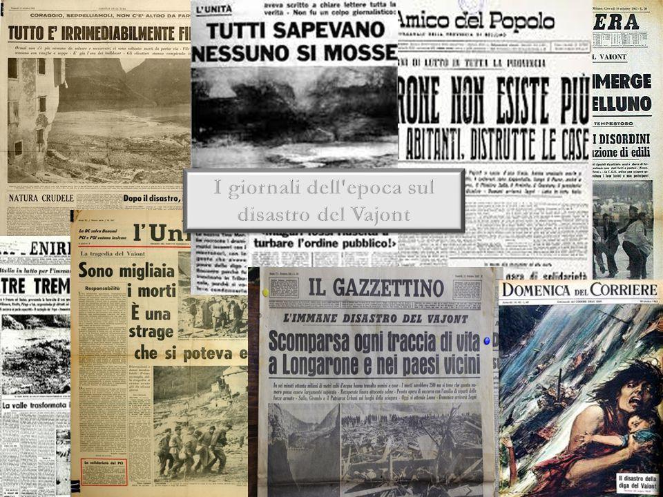 I giornali dell epoca sul disastro del Vajont