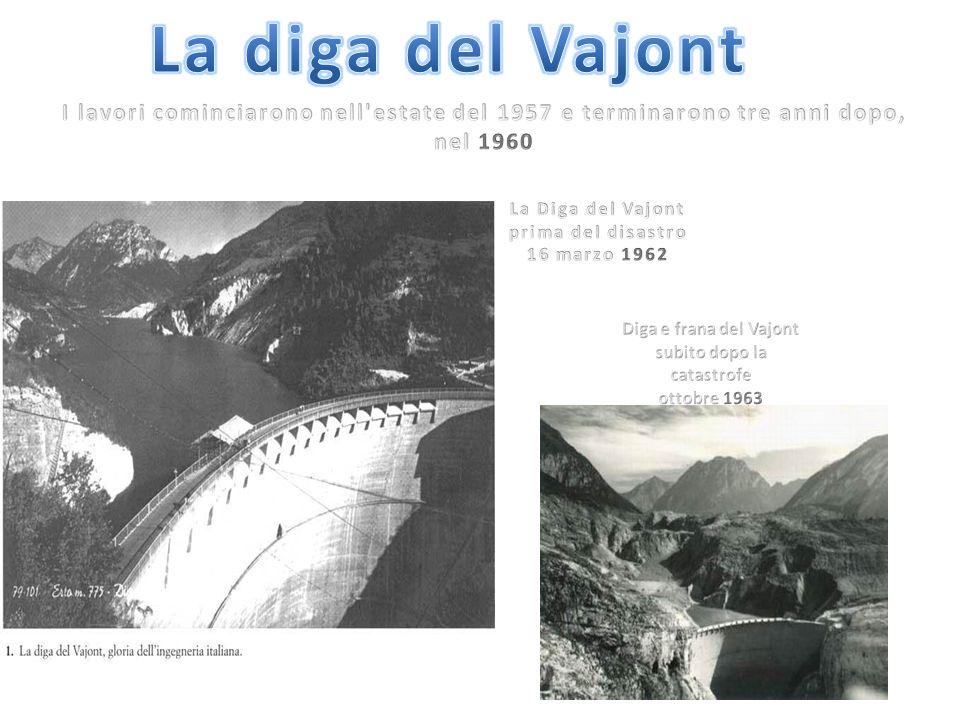 La Diga del Vajont prima del disastro 16 marzo 1962