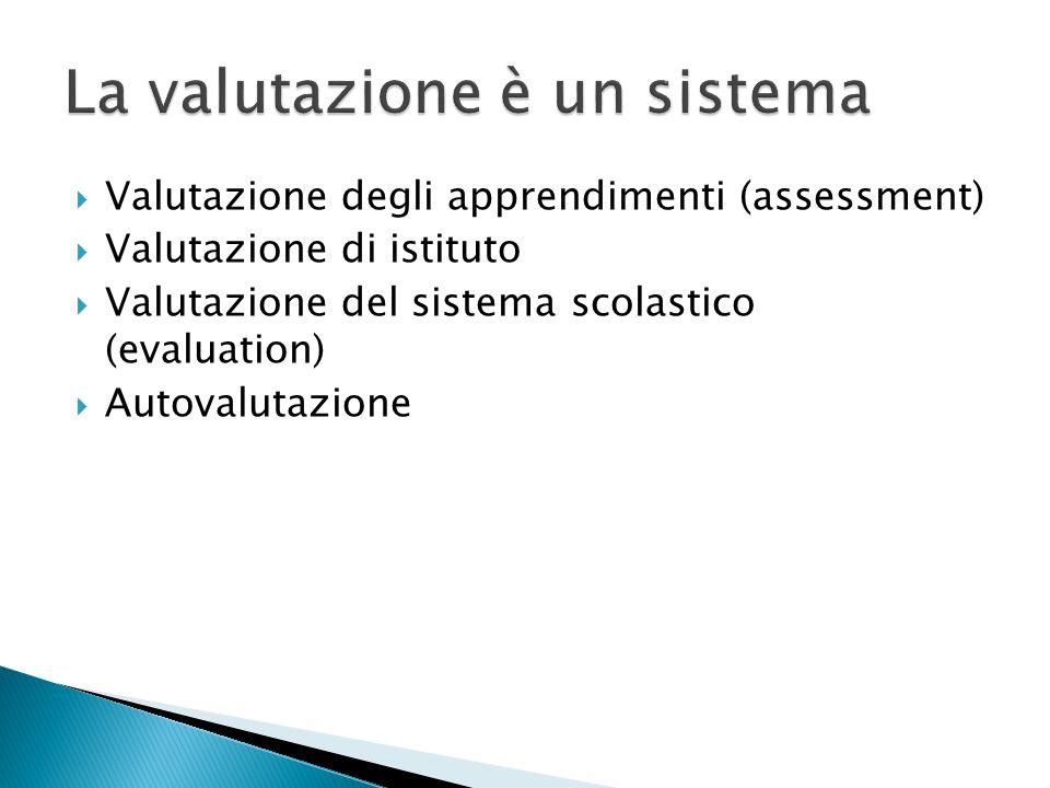 La valutazione è un sistema
