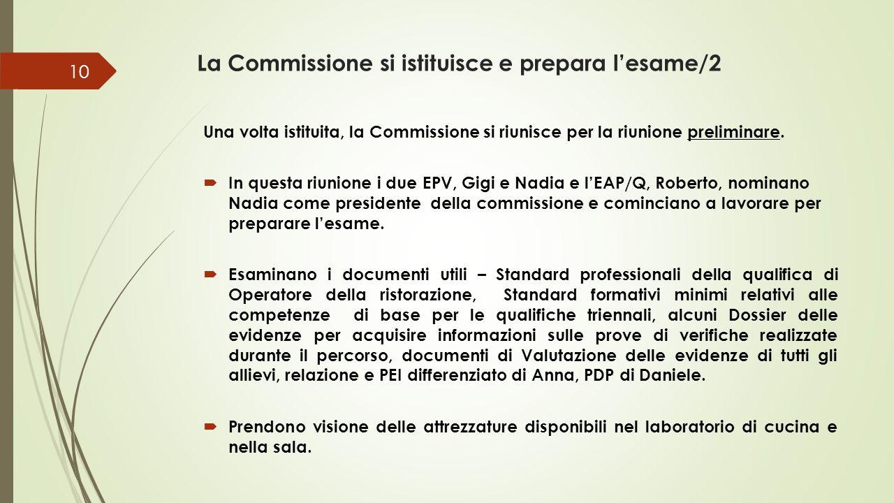 La Commissione si istituisce e prepara l'esame/2