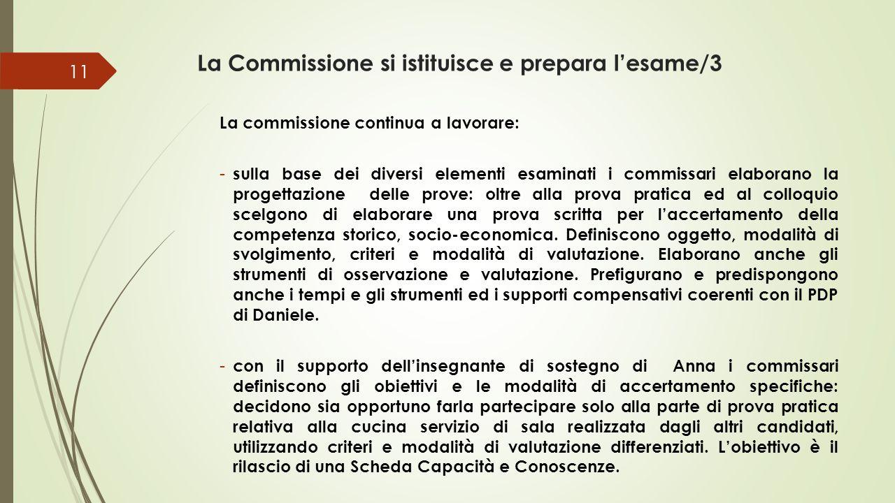 La Commissione si istituisce e prepara l'esame/3