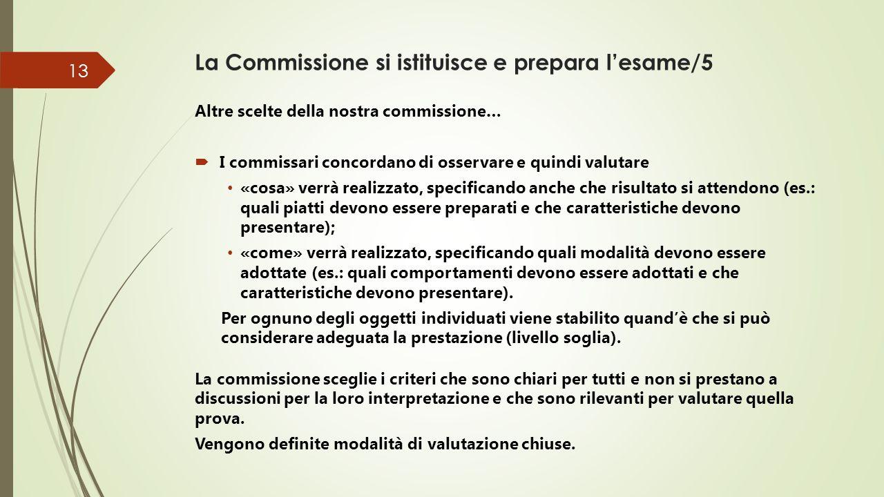 La Commissione si istituisce e prepara l'esame/5